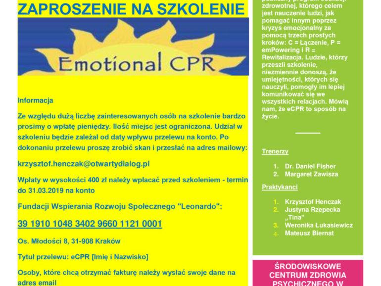 Szkolenie Emotional CPR Daniel Fisher w Wieliczce!